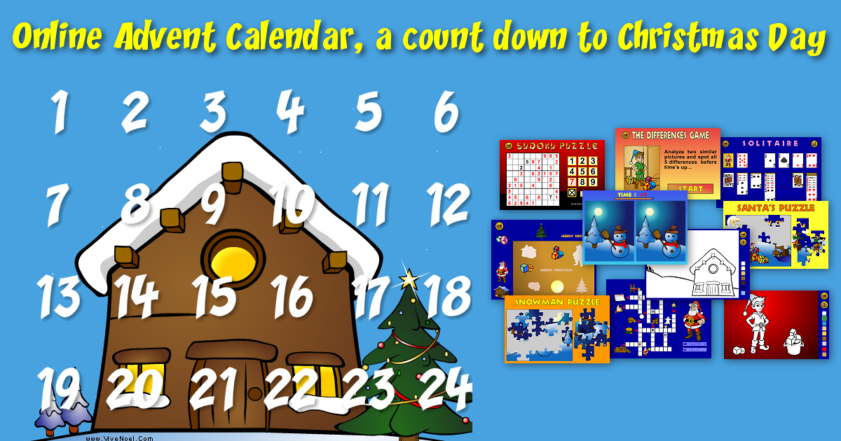 christmas advent calendar games free online