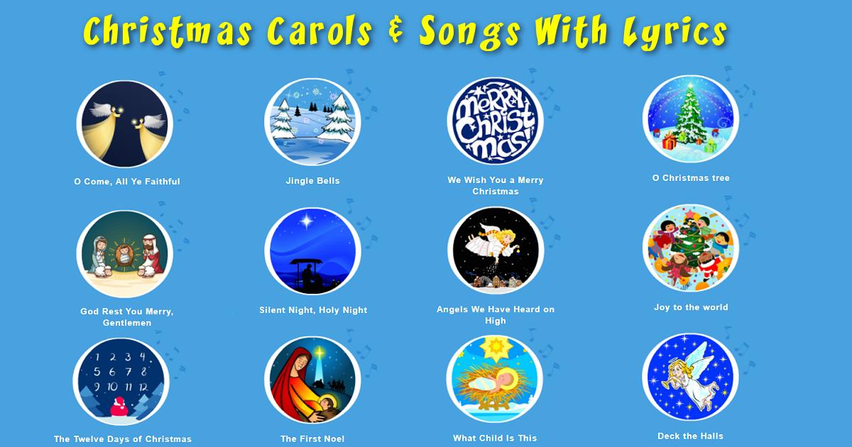 Christmas Carols Songs With Lyrics At Santagames Net