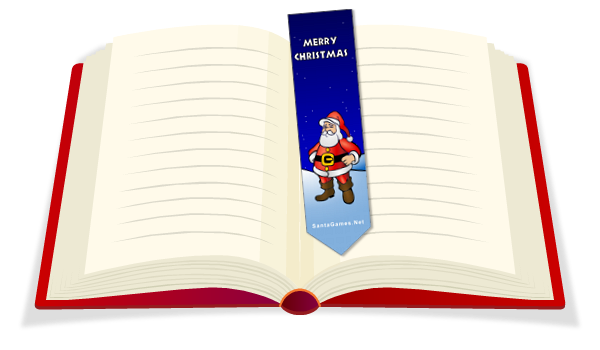 Christmas Bookmark to print out