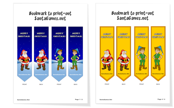 Christmas Bookmark cut-outs