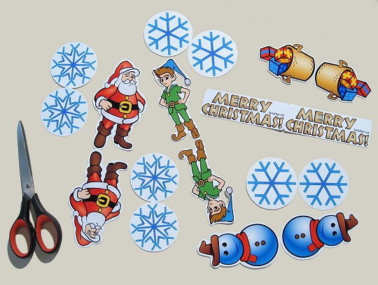 Christmas mobile cut-outs