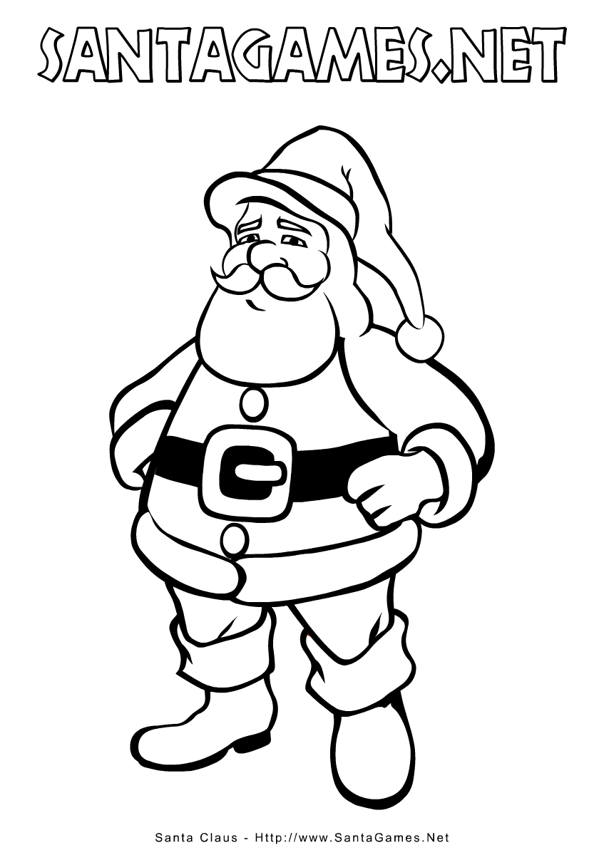 Christmas Coloring Pages > Santa Claus