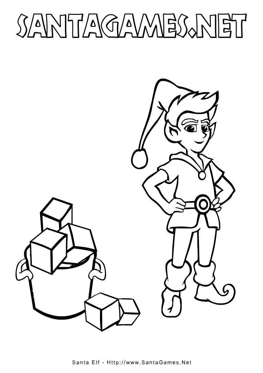 Christmas Coloring Pages > Ibereth elf - SantaGames.Net
