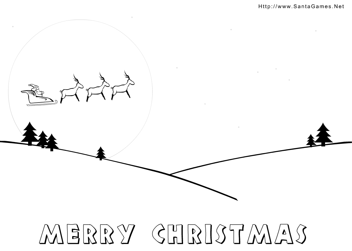 Coloring Pages Merry Christmas Santagames Net