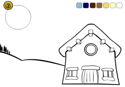 Santa Claus House<br />(Online Coloring Game) - Christmas Ecard