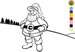 Santa Online Coloring Game - Christmas Ecard