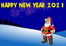 Santa Wish you a Happy New Year 2019 - Christmas Ecard