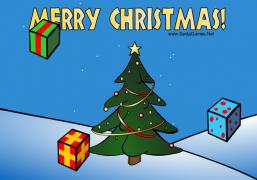 Christmas Falling Gifts - Christmas Ecard